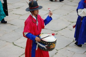 Drummer at Gyeonbokgung Palace in Korea