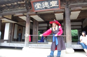 Ross in Costume at Korean Folk Museum