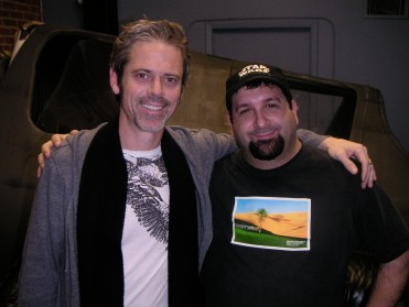 "Ross with C. Thomas Howell on ""War of the Worlds 2: The Next Wave."""