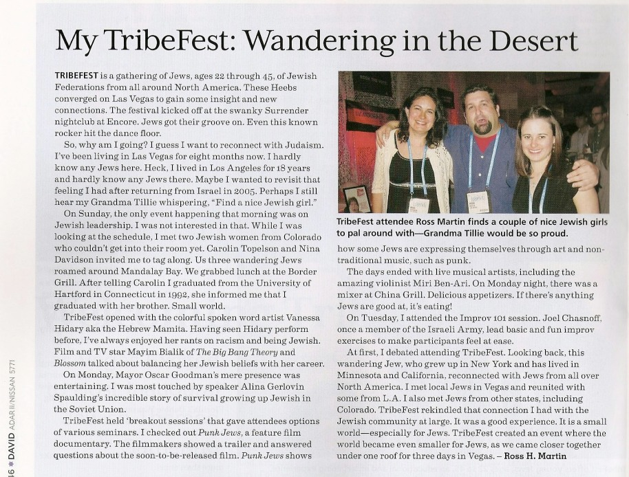 My TribeFest article for David Magazine