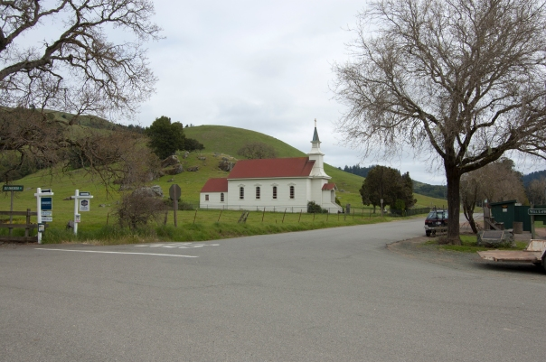 Trip to Skywalker Ranch, Nicasio, St. Mary's Church